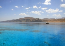 Landscape of Dahab lagoon. Egypt. Red Sea.